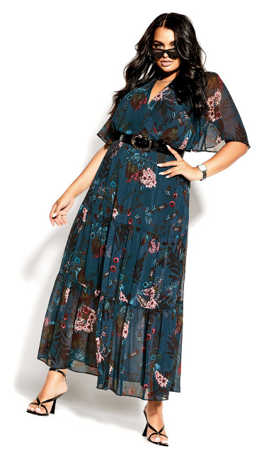 Botanica Maxi Dress - peacock