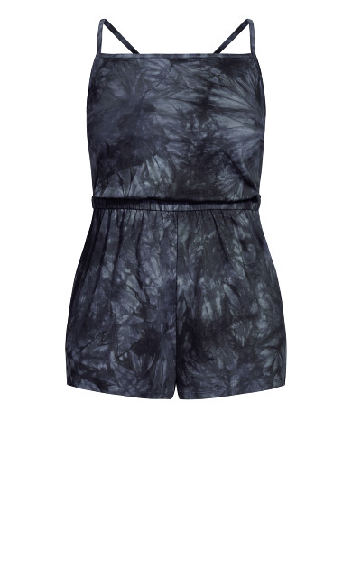 Irregular Playsuit - black