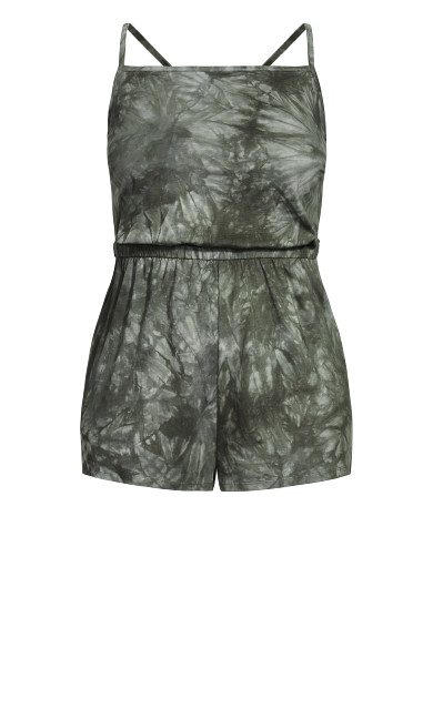 Irregular Playsuit - khaki