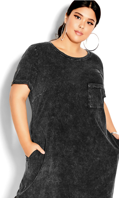 Cool T-Shirt Dress - black