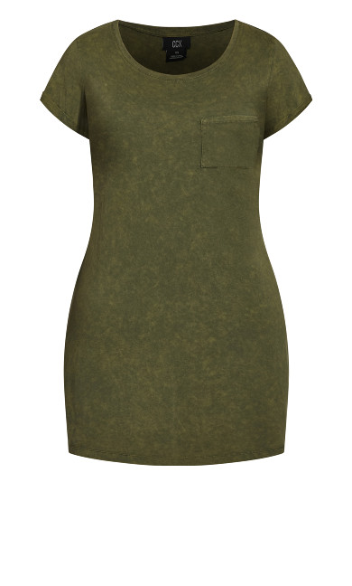 Cool T-Shirt Dress - moss