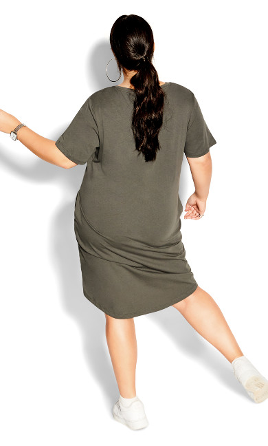 Scoop Everyday Dress - light khaki