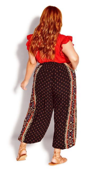 Amara Border Pant - black