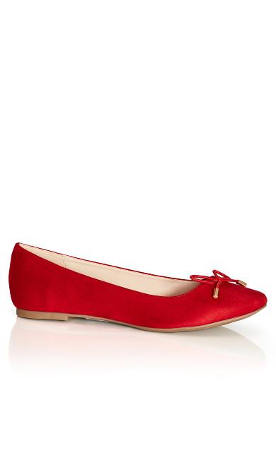 Lila Flat - scarlet