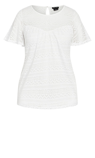 Serenity Short Sleeve Top - ivory