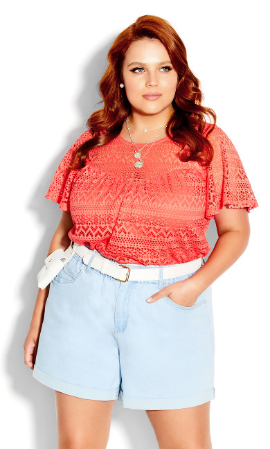 Serenity Short Sleeve Top - orange