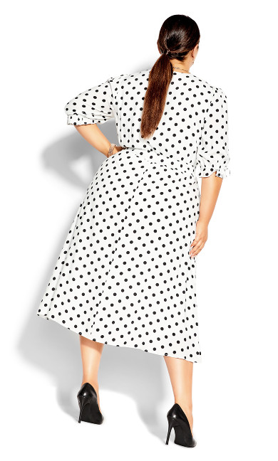 Synergy Spot Dress - black