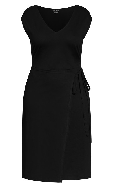 Cross And Tie Dress - black