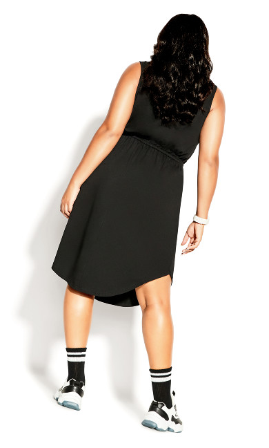 Soft Tie Dress - black