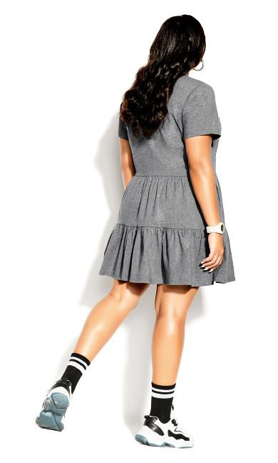 Social Tier Dress - charcoal