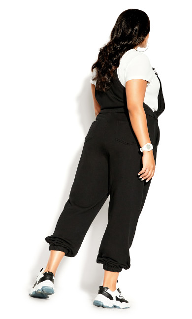 Soft Overall Jumpsuit - black