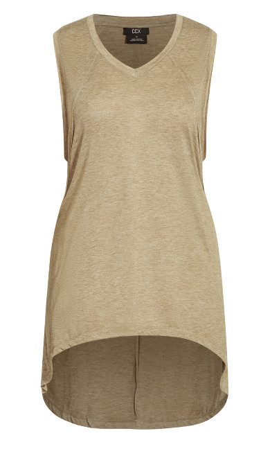 Pump It Hi Lo Tank - khaki