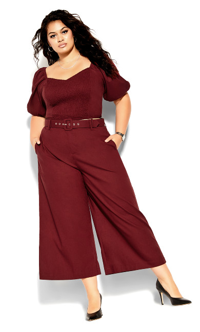 Wistful Dreams Pant - pomegranate