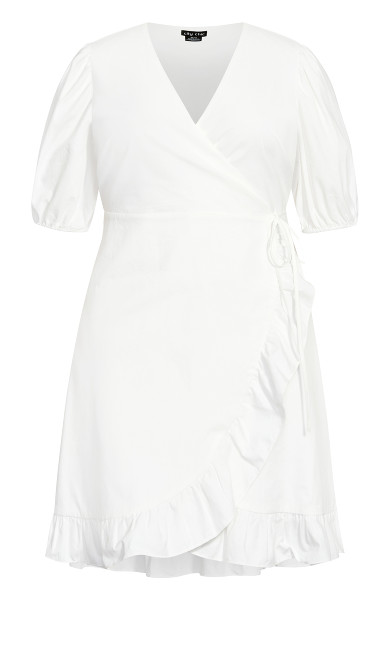 Ruffle Dreams Dress - ivory