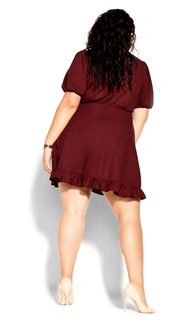 Ruffle Dreams Dress - pomegranate