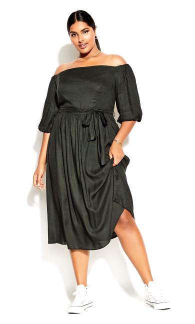 Falling In Love Dress - khaki