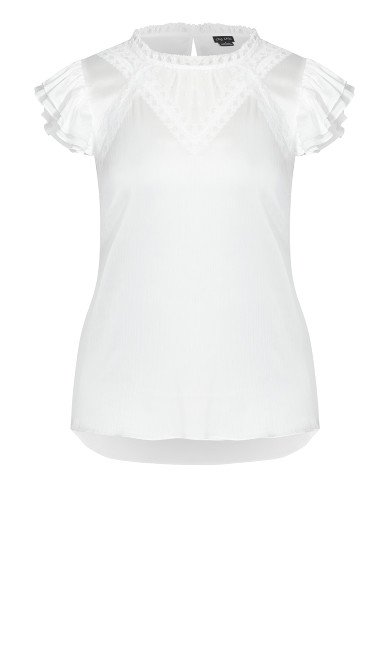 Poised Love Top - ivory