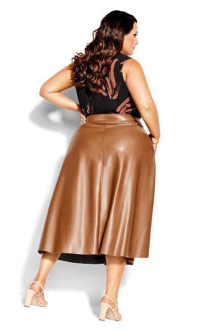 On Point Skirt - cognac