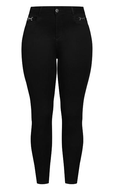 Harley Buckle Detail Jean - black