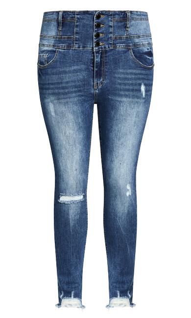 Asha Trail Blazer Jean - mid denim