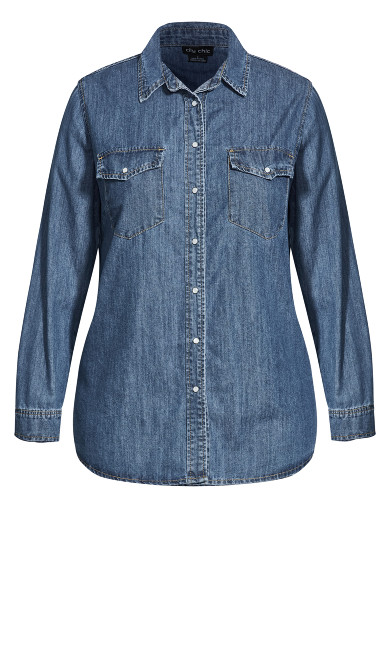 Trail Blazer Shirt - mid denim