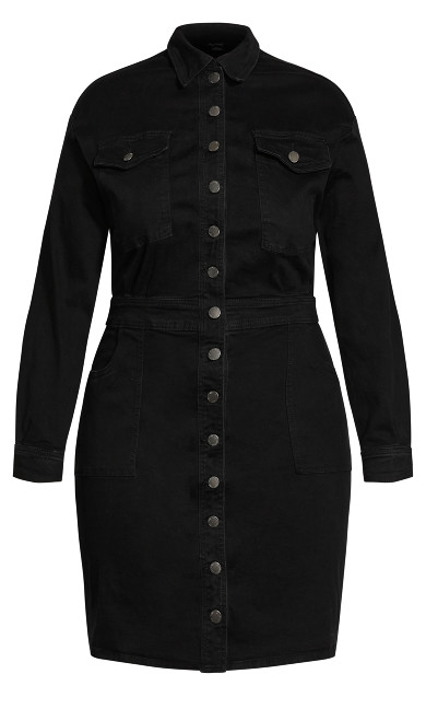 Denim Rider Dress - black wash