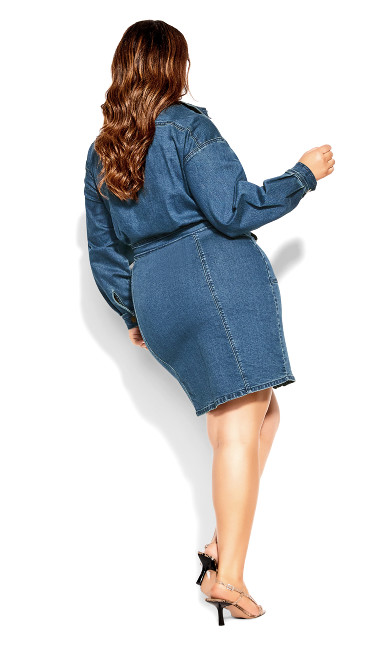 Denim Rider Dress - dark denim