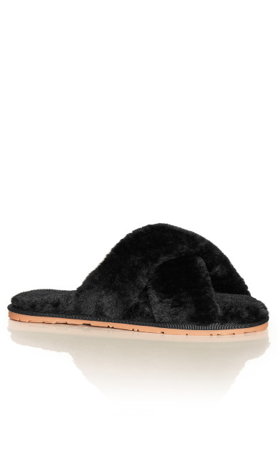 Fuzzy Slipper - black
