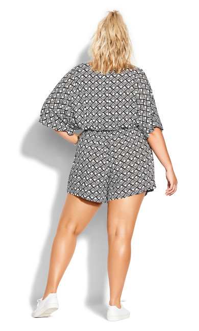 Geo Playsuit - black