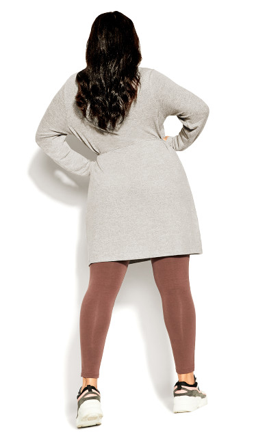 Rib Relax Tunic - soft grey