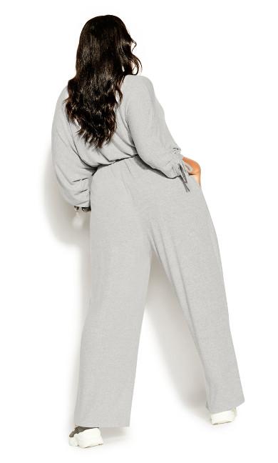 Rib Relax Pant - soft grey