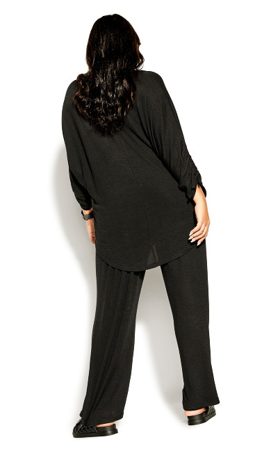 Soft Drawstring Top - black