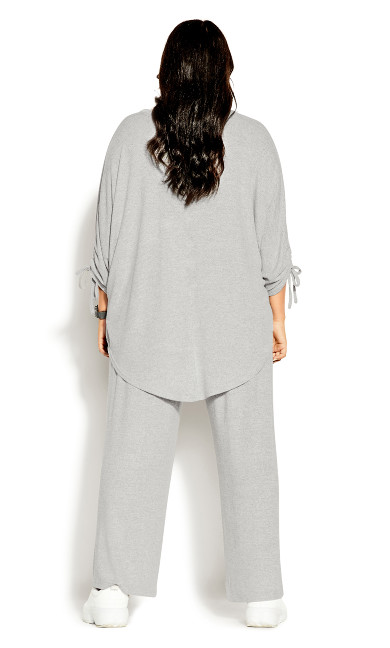 Soft Drawstring Top - soft grey