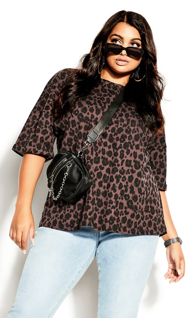 Relaxed Animal Top - dusk