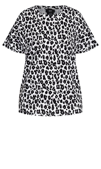 Relaxed Animal Top - ivory