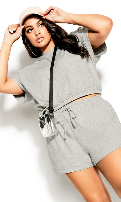 Soft Lounger Hoodie - soft grey