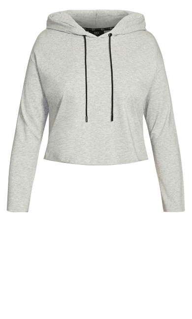 Raw Edge Hoodie - soft grey