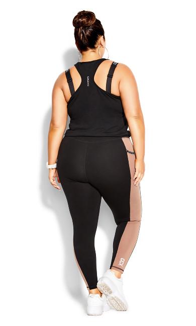 Splice Full Length Legging - black