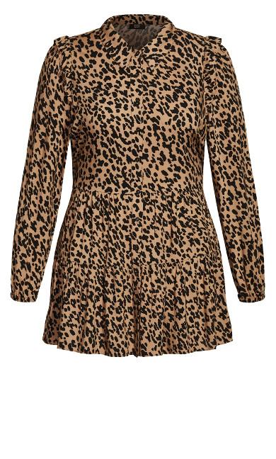Feline Fine Dress - leopard