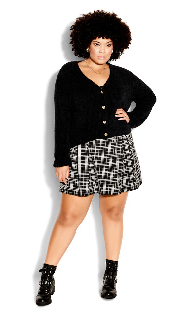 Fluffy Love Cardigan - black