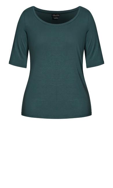 3/4 Sleep Top - emerald