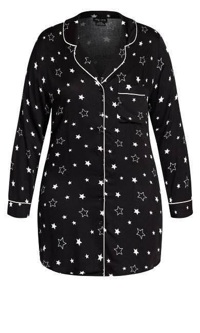 Galaxy Night Shirt - black
