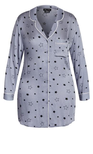 Galaxy Night Shirt - grey