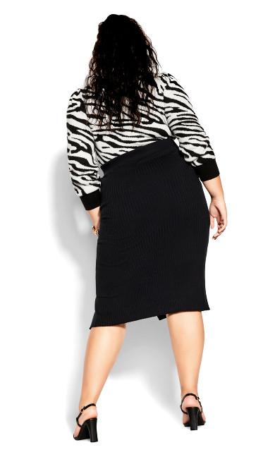 Rib Obsession Skirt - black