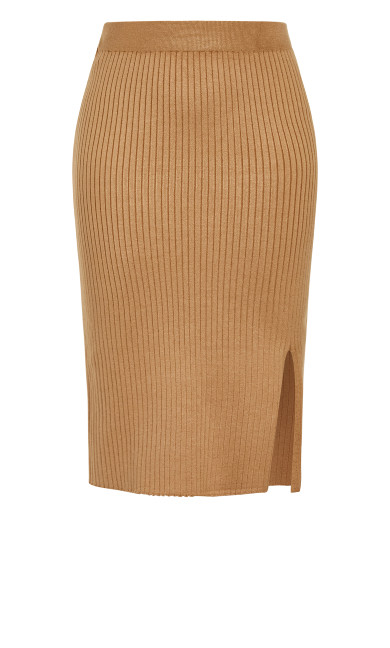 Rib Obsession Skirt - caramel