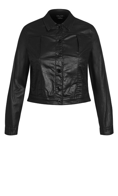 Wet Look Jacket - black