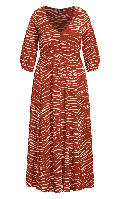 Ginger Tiger Maxi Dress - ginger