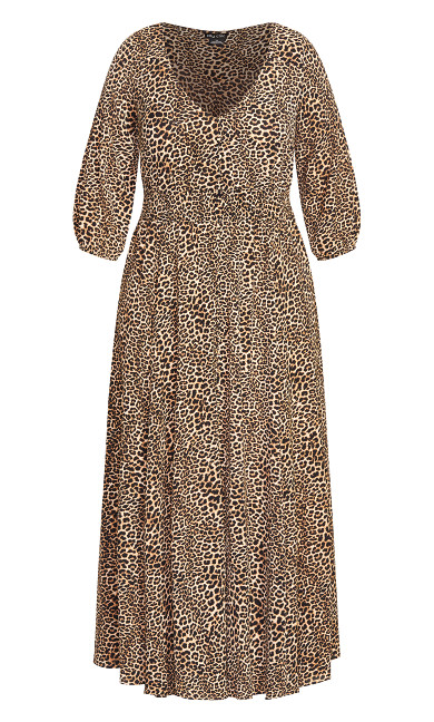 Luxe Animal Maxi Dress - leopard