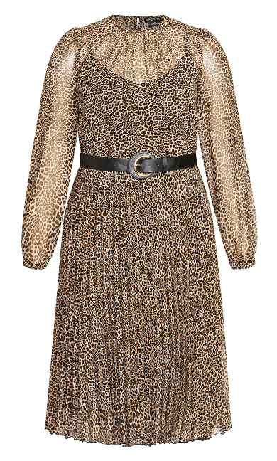 Belted Leopard Dress - leopard print