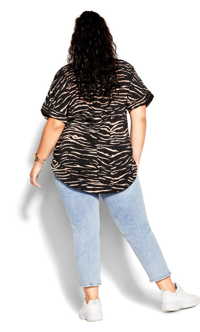 Tiger Love Top - black